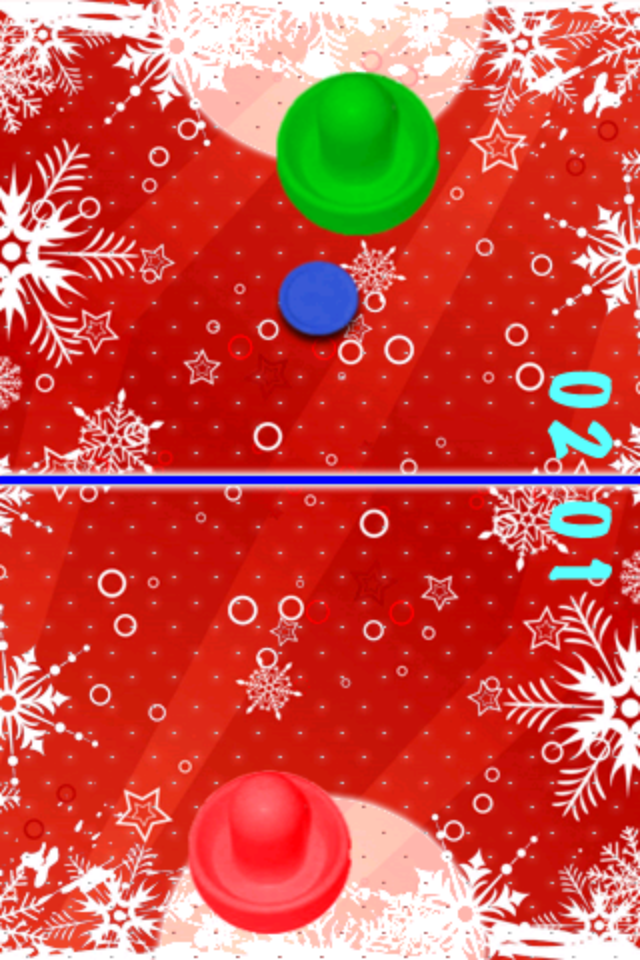 Screenshot Air Hockey Christmas